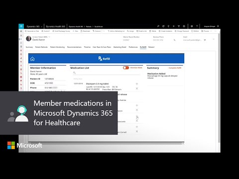 Member medications in Microsoft Dynamics 365 for Healthcare